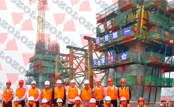 Zolo Hydraulic Self Climbing Formwork System invite client from CCCF have a on-site visiting