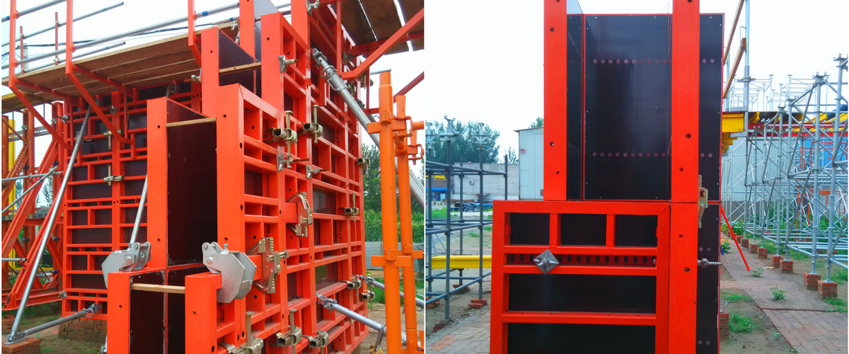 GK120 Steel Frame Panel Formwork System adjustable